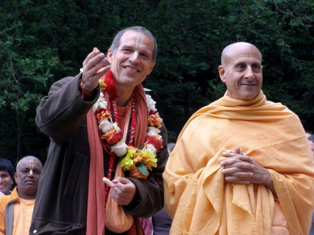 Image result for radhanath and sacinandana