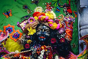 Overwhelmed with love by Krishna's attractiveness