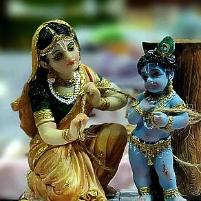 Kartik Inspirationen Tag 17 - Krishna festbinden